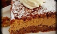 Gâteau aux noix et à la crème de mascarpone