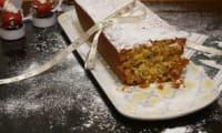 Cake de noël mandarine, fruits secs et fruits confits