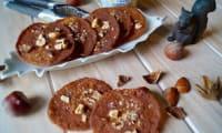 Tuiles de crème de marron aux noisettes