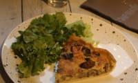 Quiche aux champignons et au curry