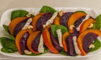 Salade d'épinards, betterave et potimarron