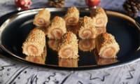 Mini-bûches tarama saumon fumé