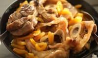 Veau mijoté aux abricots