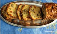 Cake salé tomates séchées , noix et olives