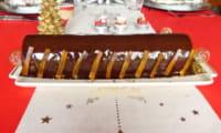 Bûche au chocolat et à la clémentine