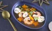 Bouillon étoilé épicé aux crevettes