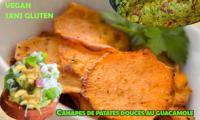 Canapés de patates douces rôties au guacamole