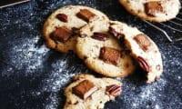 Cookies au praliné et noix de pécan