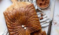 Galette des rois vegan cacao, noisette et praliné
