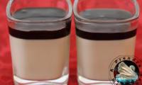 Panna cotta coco chocolat matcha