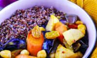 Couscous de légumes d'hiver rôtis et quinoa rouge