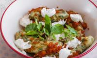 Gnocchi aux épinards et à la mozzarella