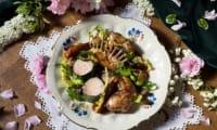 Lapereau aux salades sauvages