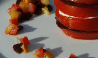 Millefeuille Tomates Betterave Mozarella