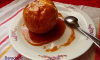 Pomme au four au beurre salé