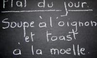 Soupe à l'oignon, toast à la moelle
