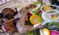 Caille à la Plancha et Salade fraîcheur