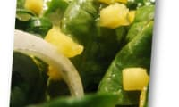 Salade de mangue et pousses d'épinards