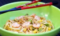 Fettuccini aux crevettes