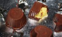 Chocolats au lait et coeur passion