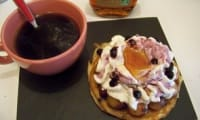 pancakes aux fruits et chantilly au siphon