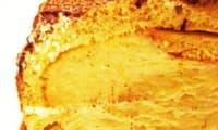 Bûche sur sablé breton, crème mousseline vanille