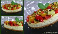 Cheesecake salé au Brocciu et à la Menthe