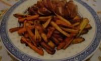 Frites de panais et de carottes