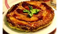 Tarte Tatin d'aubergines au pesto et pignons de pin