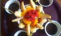 Fondue au chocolat aux fruits frais