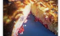 Un gâteau pommes-pralines roses