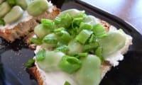 Tartine de fèves