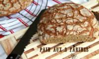 Pains aux 3 farines, pauvre en gluten