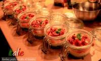 verrines pesto, ricotta et tomates