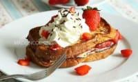 Brioche perdue aux fraises et au mascarpone