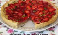Tarte aux fraises & amande