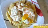 Pâtes à la brousse et œuf poché