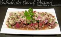 Salade de boeuf mariné