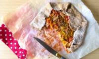 Tarte complète rustique à la crème de poivrons et thon