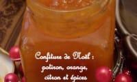 Confiture potiron, orange et touche de citron