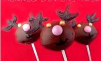 """Cake pops """"Rennes du père Noël"""""""