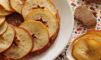 Tarte fine seigle pommes, coings, canelle