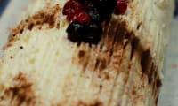 Bûche aux fruits rouges et au mascarpone