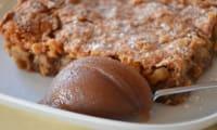 Gâteau fondant aux noix et à la crème de marrons