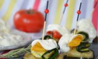 Petits roulés de légumes d'été à la burrata