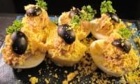 Oeuf et pomme de terre mimosa
