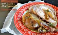 Rôti de porc sucré-salé pomme miel gingembre