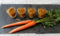 Purée de courgettes et carottes en verrines
