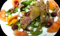 Salade aux artichauts et poivrons grillés