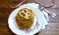 Pancakes au cassis